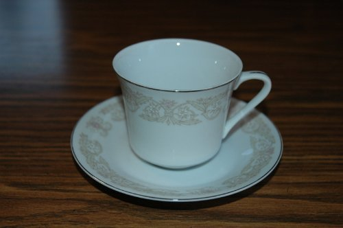 Vintage Diamond China of Japan - Regal Pattern Cup and Saucer ()