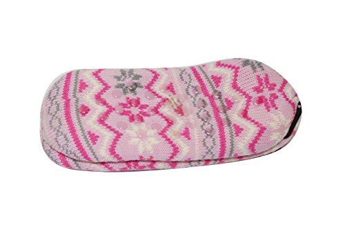 Pantofole Da Donna Sherpa Antiscivolo Stivaletti Da Interno A Maglia (sll) (sll-3320) -pink
