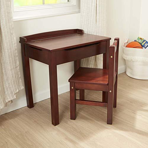 Melissa & Doug Child's Lift-Top Desk & Chair (Kids Furniture, Espresso, Brown, 2 Pieces, 16.1