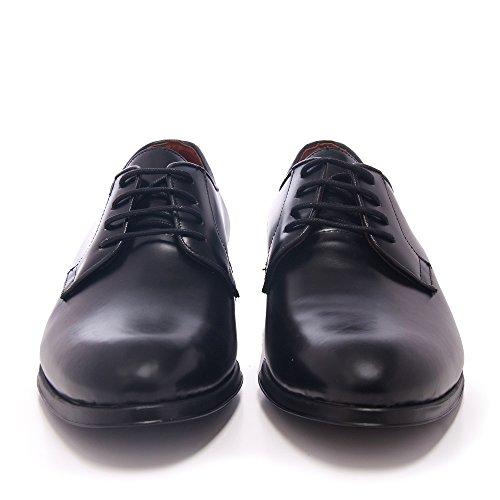 C00098 Blucher Negro Castellanísimos con Negro Estilo de Piel en Zapato Hombre Cordones Rqw6O1d