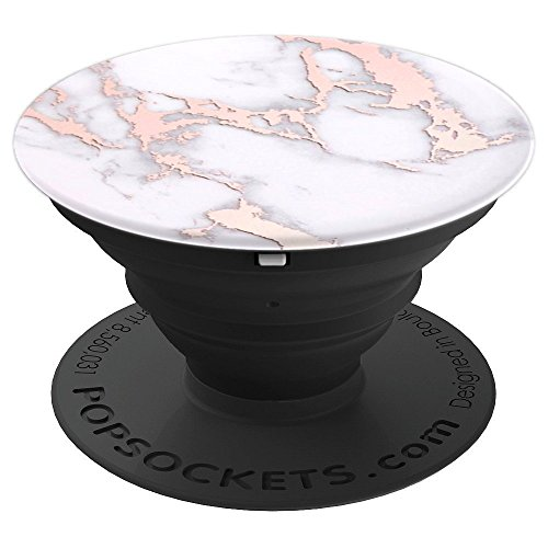 Pop Socket Rose Gold Marble. White Rose Gold Marble Design - PopSockets Grip and Stand for Phones and Tablets
