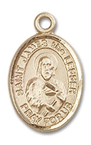 14 Karat Gold Saint James the Lesser Medal Petite Charm Pendant, 1/2 ()