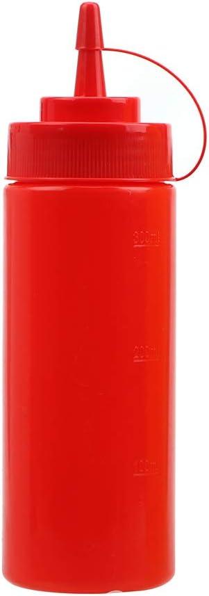 Amarillo pl/ástico Color Rojo Botella con dispensador de Aceite de Salsa y Ketchup 8 Unze iTimo Plastic Squeeze