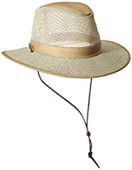 Aussie Breeze made from heavy duty UPF material. It is a packable mesh breezer with a 3 inch brim. Made in the USA.