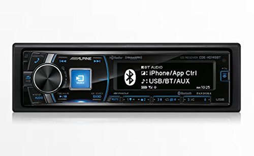Alpine CDE-HD149BT Single-Din Bluetooth Car Stereo with HD Radio, Premium LCD Display and SiriusXM Ready (Alpine Iphone Car Stereo)