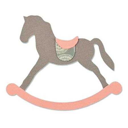 Cavallino A Dondolo Disegno.Fustella Sizzix Bigz Big Shot Cavallo A Dondolo 661983 Amazon It