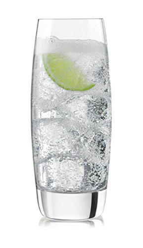 Libbey Brookline Heavy Base Cooler Glasses 4 Piece Set, Clear by Libbey