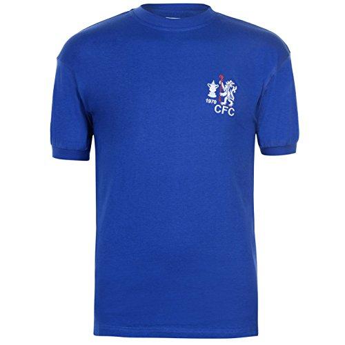 1970 Retro Jersey (Score Draw Mens Chelsea Football Club 1970 Home Jersey Retro Shirt Short Sleeve Royal XX Large)