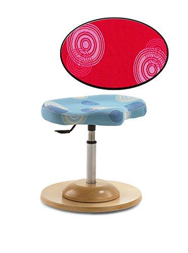 Pendelhocker Kinder-Schreibtischstuhl Drehstuhl in verschiedenen Farben, Mayer Sitzmöbel, Farbe:Rot