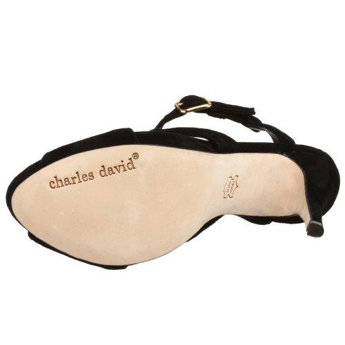 Sandalo Con Cinturino Nero Di Charles David Womens