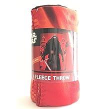 "Disney Star Wars Plush Fleece Throw Blanket Twin 46""x 60""-red"