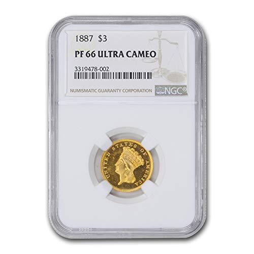 1887 $3 Gold Princess PF-66 UCAM NGC $3 PF-66 NGC