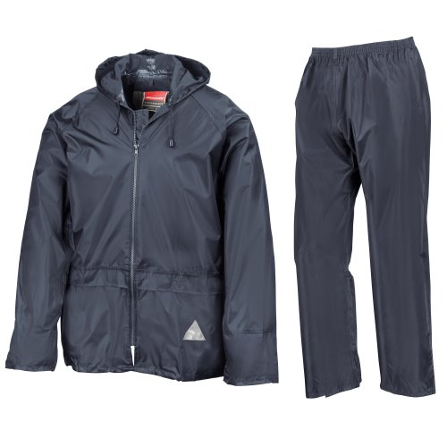 Result Mens Heavyweight Waterproof Rain Suit (Jacket & Trouser Suit) (L) (Navy)