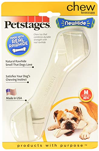 Petstages (2 Pack) Newhide Safe Replacement for Rawhide Dog Chew, Durable Safe Dog Toy (Medium)