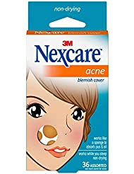 Nexcare Acne Cover, Invisible, Hydrocolloid Technology, Non-Drying, Drug-Free, Absorbing, 36 count