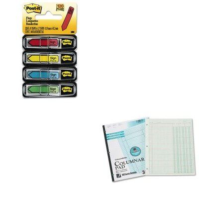 KITMMM684SHWLJG7203A - Value Kit - Wilson Jones Accounting Pad (WLJG7203A) and Post-it Arrow Message 1/2amp;quot; Flags (MMM684SH)