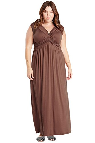 knotted maxi dress - 8