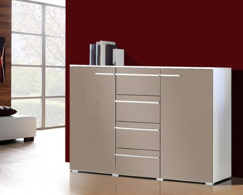 Affordable Cheap Kommode Sideboard Anrichte Wei Grau Cappuccino Amazonde  Kche U Haushalt With Sideboard Cappuccino With Sideboard Wei Grau