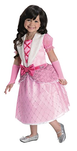 [Rubies Barbie Rosebud Princess Costume, Child Small] (Barbie Halloween Costumes For Kids)