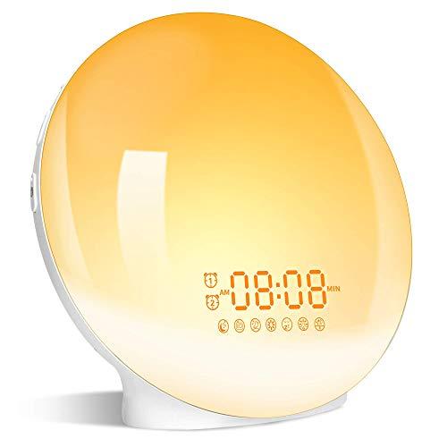 Wake Up Light Sunrise Alarm Clock, LBell Clock