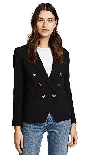 cupcakes and cashmere Women's Elodie Double Brested Blazer, Black, 8