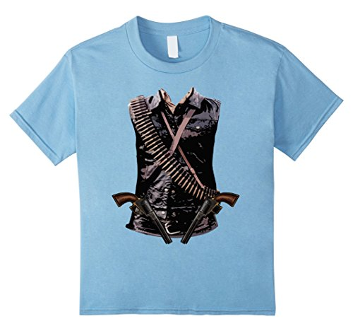 Kids Wild West Cowboy Halloween 2017 Costume T-shirt 12 Baby Blue