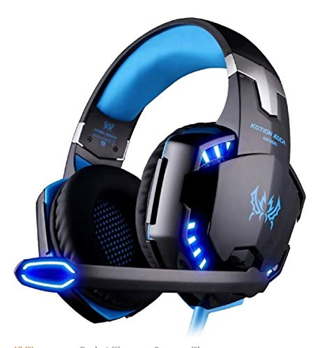 OCDAY Gaming Headphones with 3.5mm LED Jack with Microphone, Stereo and Volume Control Noise Cancelling Headset for PS4…