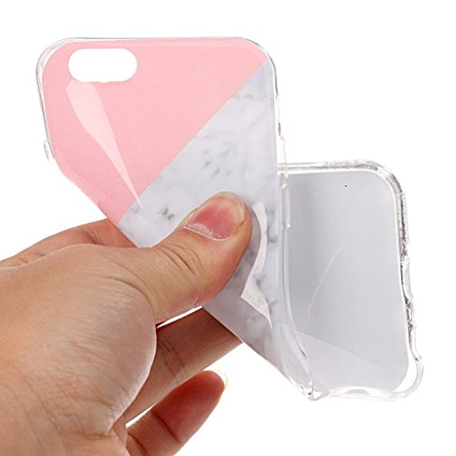 Crisant Dreifarbiger Marmor Drucken Design weich Silikon TPU schutzhülle Hülle für Apple iPhone 6 6S 4.7'' (4,7''),Premium Handy Tasche Schutz Case Cover Crystal Bumper Schale für Apple iPhone 6 6S 4.