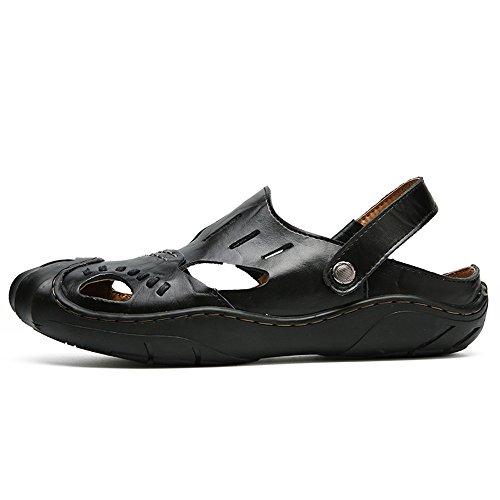 2018 Size sulla morbida da in piatta spiaggia Black per backless Color Scarpe Morbida pelle cinturino 43 Orange per scarpe uomo EU punta uomo all'aperto senza in regolabile camminare r8qrCxSw