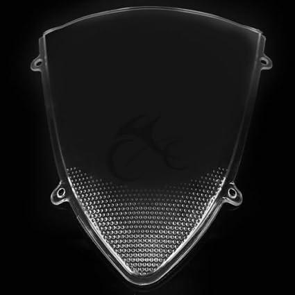 TengChang Motocicleta Double Bubble parabrisas protector de ...