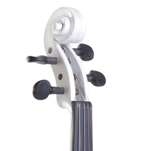 Cecilio 4/4 CEVN-2W Solid Wood Pearl White Electric / Silent Violin with Ebony Fittings in Style 2 (Full Size) by Cecilio (Image #2)