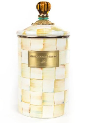 UPC 846823028988, MacKenzie-Childs Enamel Parchment Check Canister Large