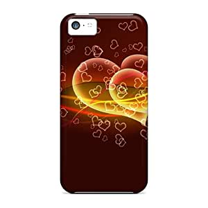 Excellent Iphone 5c Case Tpu Cover Back Skin Protector Flying Hearts