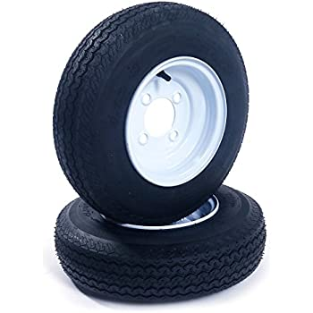 Amazon Com Qd 712 Trailer Tires 4 80 8 6 Ply Load C On White Rims
