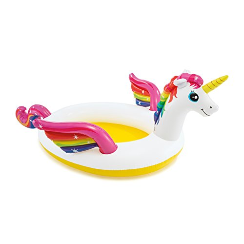 "Intex Mystic Unicorn Inflatable Spray Pool, 107"" X 76"" X 41"", for Ages 2+"