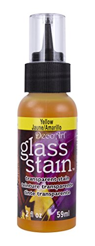 Transparent Glass Stain 2 Ounces-Yellow (Transparent Tip Kit Stain)