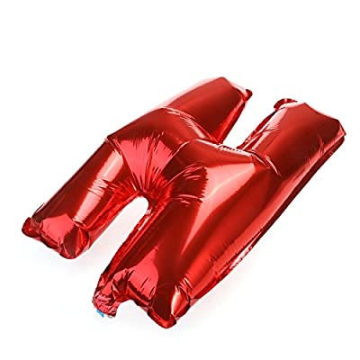 TOYMYTOY 16 Inches Foil Balloon Alphabet Letter Mylar Balloons for Party (Red N): Toys & Games