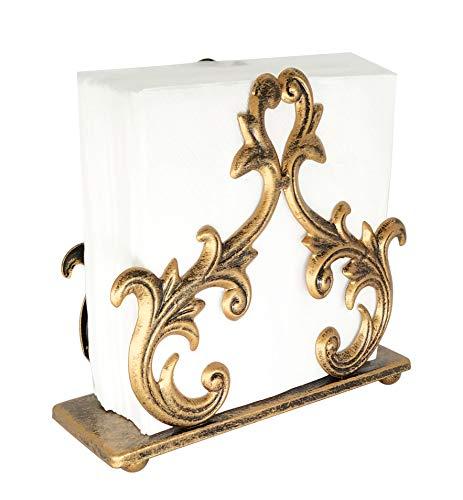 Bronze Metal Baroque Style Napkin Holder, Freestanding Barocco Tissue dispenser, Baroque Napkin Tray Basket