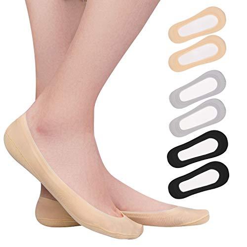 TAGVO 6 paar dames sokken onzichtbare ijszijde bootsokken antislip ultrazachte sokken laag gesneden liner onzichtbare…
