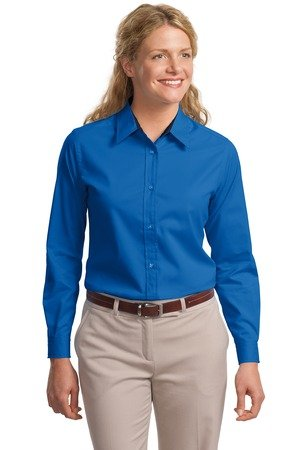 Port Authority Ladies Long Sleeve Easy Care Shirt-Royal/ Classic Navy-Medium