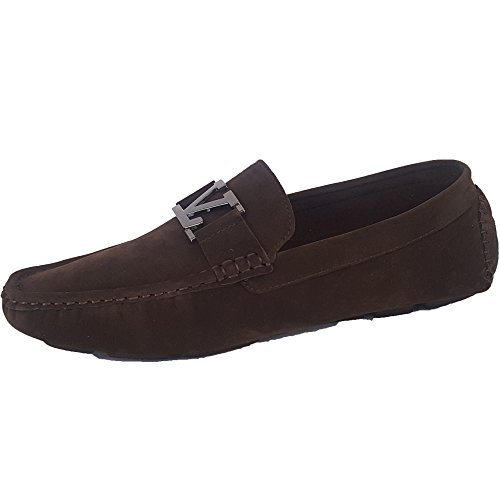 Driving Driving Driving Moccasins On Designer Suede Suede Suede Brown Slip Mens Look Shoes Italian Classique Loafers 7031 Style qWwfHBtBn