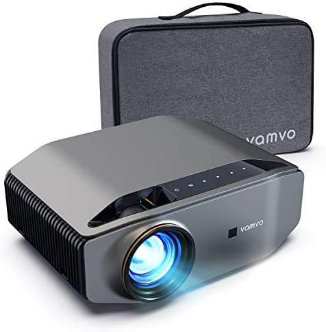 """Projector for Outside Motion pictures, vamvo L6200 1080P Full HD Video Projector with max 300"""" Show, 5000Lux, Ideally suited for Outside, Residence Theater, Suitable with Hearth TV Stick, PS4, HDMI, VGA, AV and USB"""