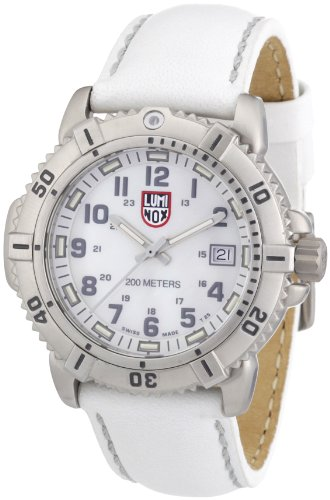 Luminox Women's A.7257 ModernMarine Analog Display Quartz White Watch
