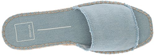 Dolce Vita Womens Bobbi Slide Sandaal Lt Blue Denim
