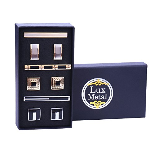 BodyJ4You 9PCS Cufflinks Tie C