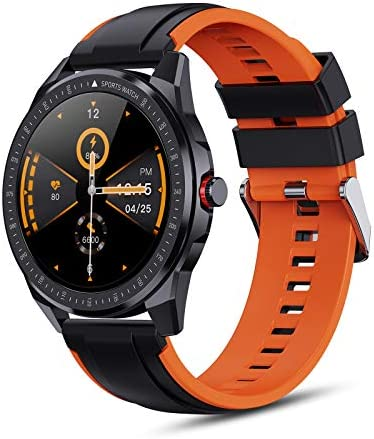 OUTAD Smart Watch for Android/iOS Phones, Bluetooth Health Tracker with Fitness Tracker Monitor Blood Oxygen Meter Heart Rate Monitor, Digital Smartwatch for Women Men, 3ATM Waterproof