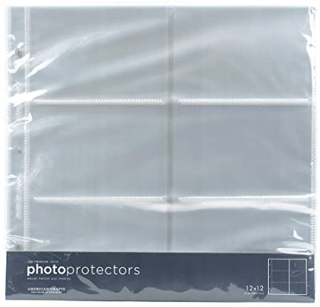 American Crafts 12-Inch by 12-Inch Horizontal Photo Protectors 76728