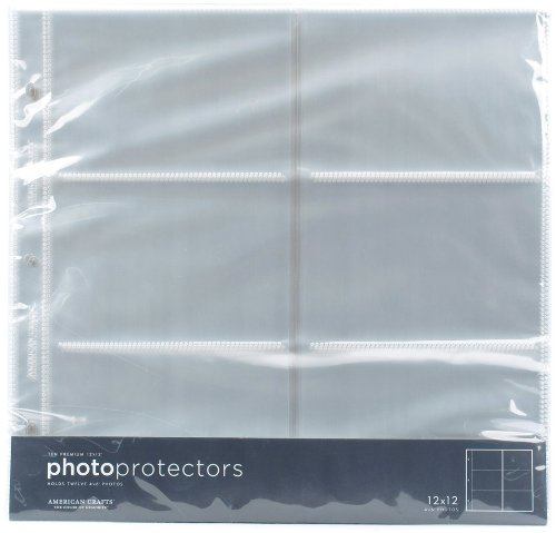 American Crafts 4x6 Photo Protector - 12x12 Photo Sleeves 4x6