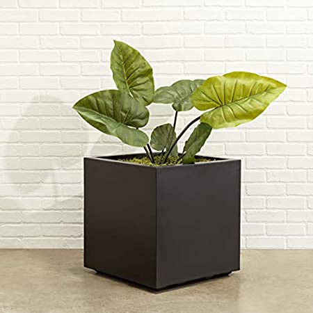 Amazon Com Square Black Planter Xl Extra Large Outdoor Indoor