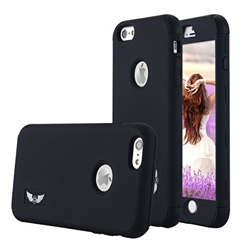iPhone 6S Plus Case Pandawell Shockproof Hybrid High Impact Hard Plastic+Soft Silicon Rubber Armor Defender Case Cover for Apple iPhone 6S Plus / 6 Plus 5.5 inch - (Hybrid Hard Case)
